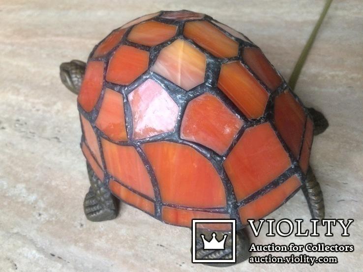 Фигурка- светильник Черепаха, стиль Тиффани., фото №7