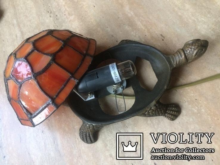 Фигурка- светильник Черепаха, стиль Тиффани., фото №10