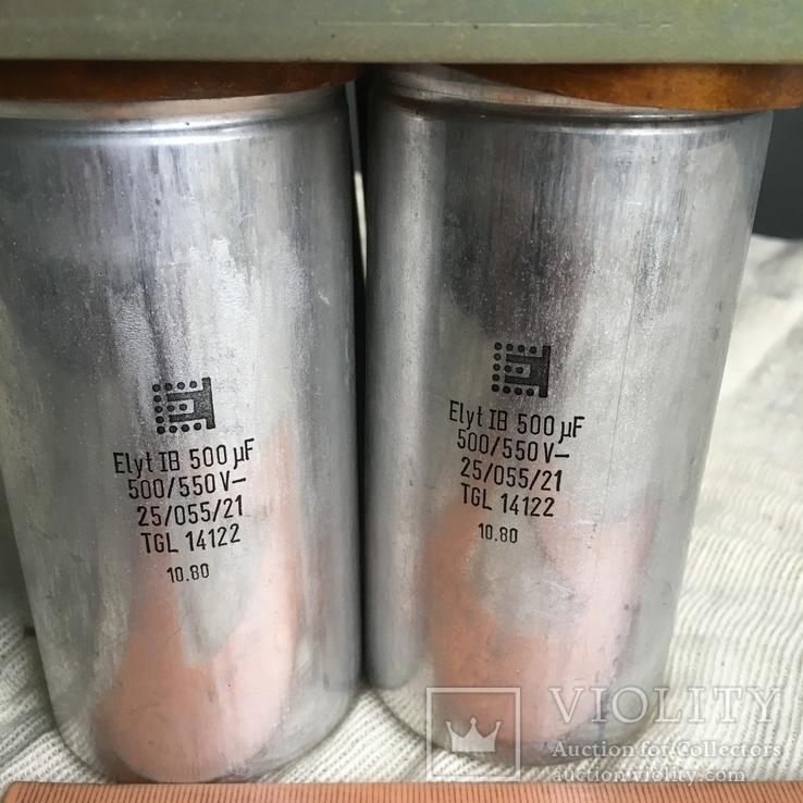 Батарея конденсаторов 500 мФ 500/550В 6 шт, фото №3