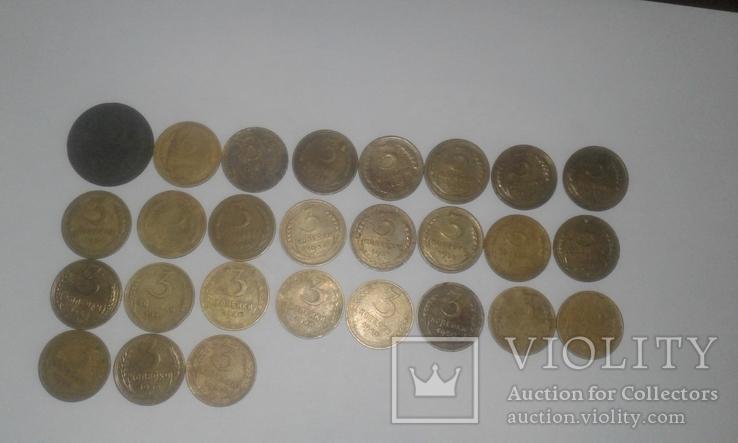 3 копейки з 1924 по 1957 р. 27 шт. Без повторів, фото №2