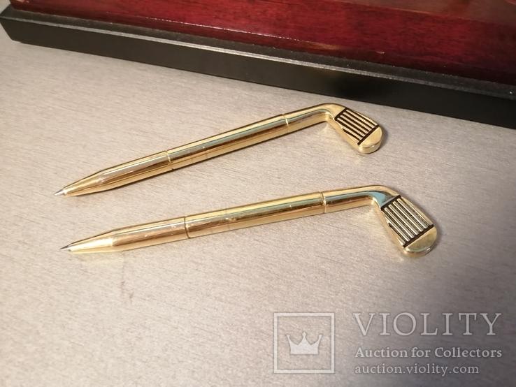 Ручки в форме клюшки на подставке, фото №3