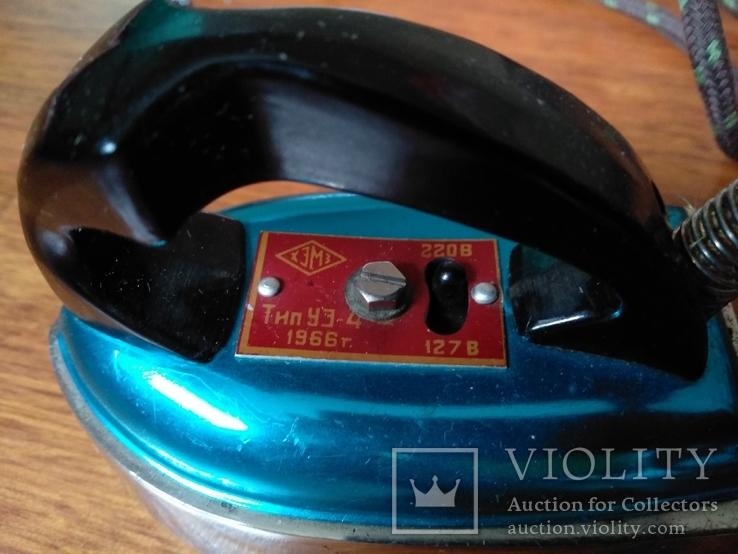 Малогабаритный электрический утюг СССР в коробке, фото №4