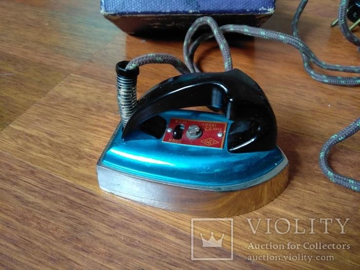 Малогабаритный электрический утюг СССР в коробке, фото №5