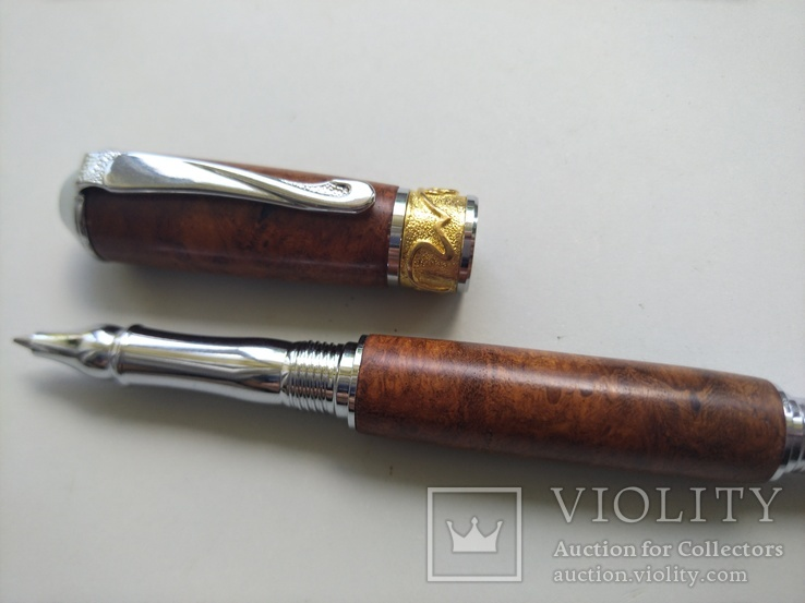 Ручка роллер ручной работы Ар Нуво, фото №6