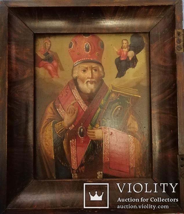 Икона Святого Николая Чудотворца конец 19-го века., фото №3