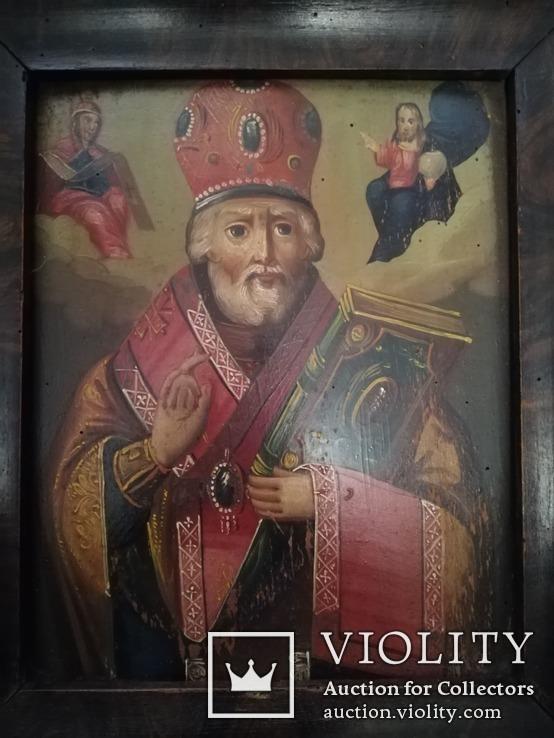 Икона Святого Николая Чудотворца конец 19-го века., фото №4