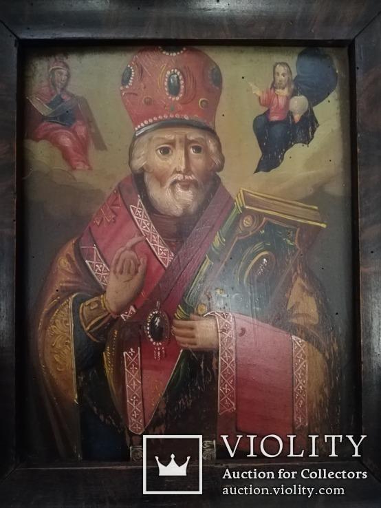 Икона Святого Николая Чудотворца конец 19-го века., фото №5