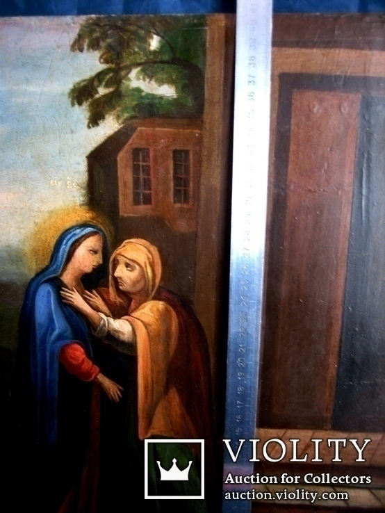 Старовинна ікона святих, фото №2