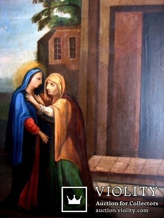 Старовинна ікона святих, фото №6