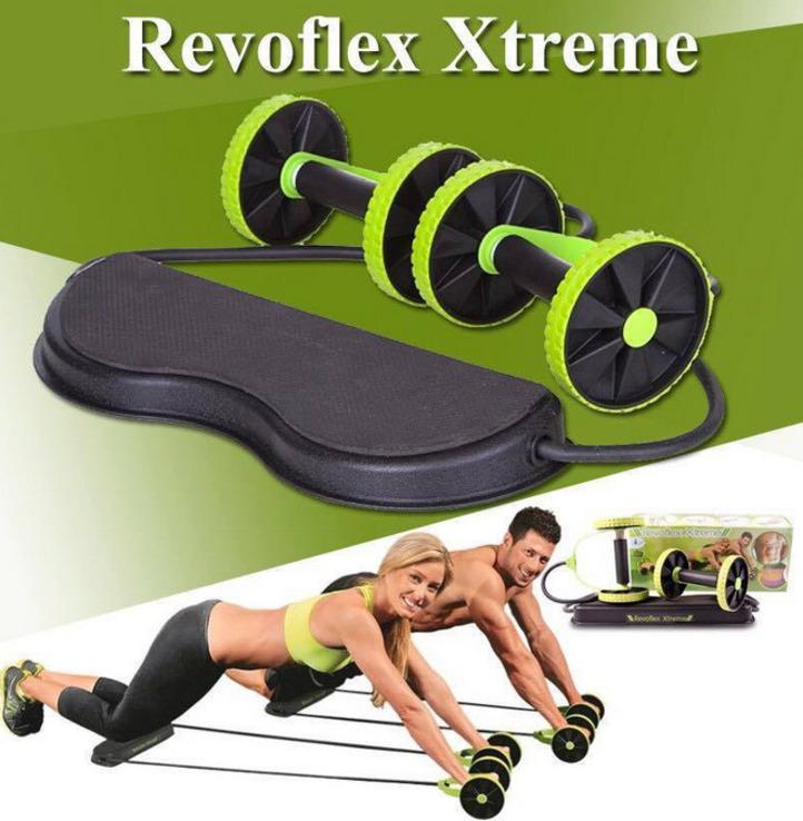 Тренажер Revoflex Xtreme для всего тела. 40 упражнений. Роликовый тренажер