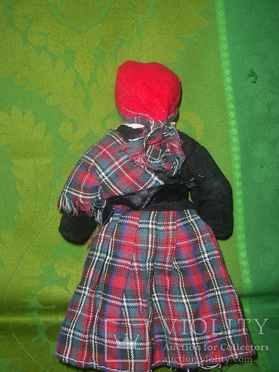 Кукла фарфоровая в национальном костюме Шотландка 21 см, фото №4