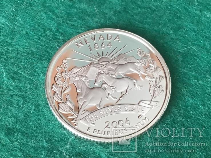 25 центов сша 2006 года. Серебро, фото №2