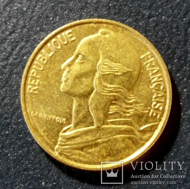 Франция 5 сантимов 1996, фото №3