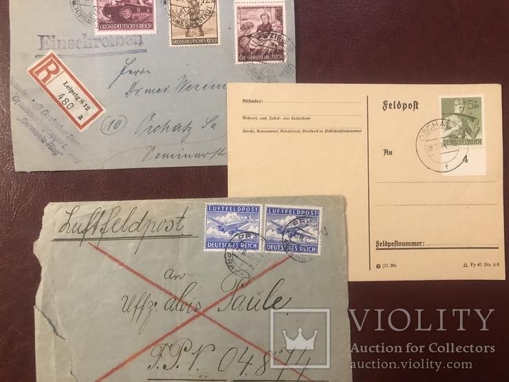 Марки Германии на почтовых открытках, фото №2