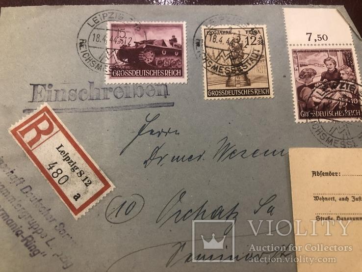 Марки Германии на почтовых открытках, фото №3
