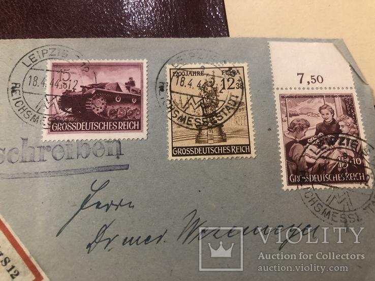 Марки Германии на почтовых открытках, фото №7