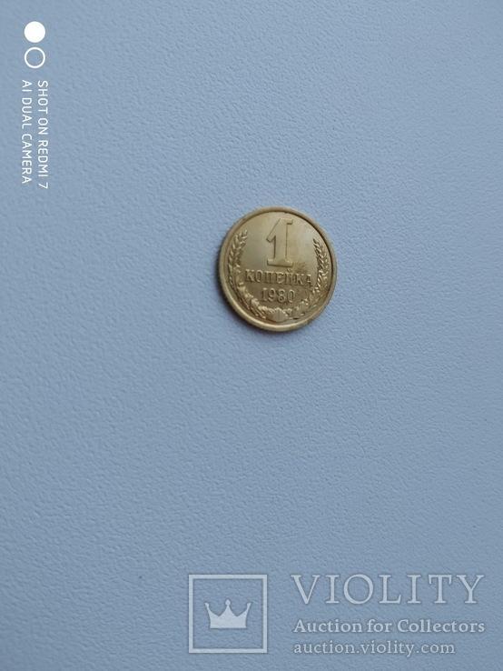 1 копейка 1980 года 2. Л.ст.шт. 4 - внутренние колосья, с длинными, тонкими остями, фото №3