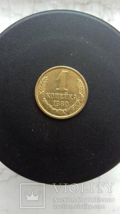 1 копейка 1980 года 2. Л.ст.шт. 4 - внутренние колосья, с длинными, тонкими остями, фото №6