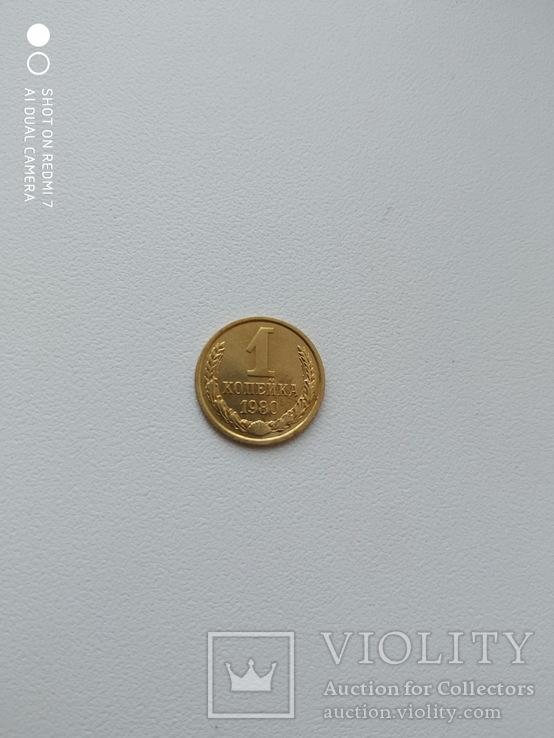 1 копейка 1980 года 2. Л.ст.шт. 4 - внутренние колосья, с длинными, тонкими остями, фото №9