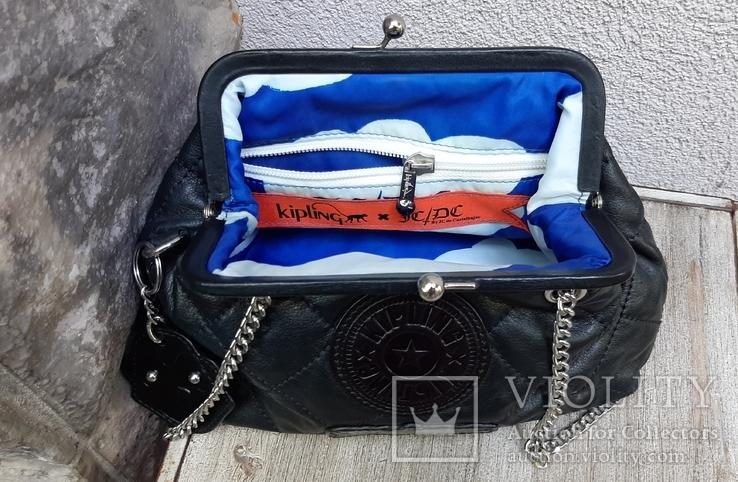 Кожаная сумка Kipling в винтажном стиле., фото №10