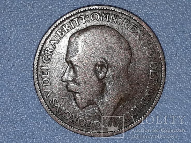 Великобритания ½ пенни 1924 года, фото №2