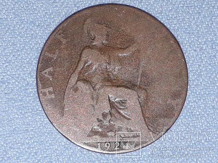 Великобритания ½ пенни 1924 года, фото №5