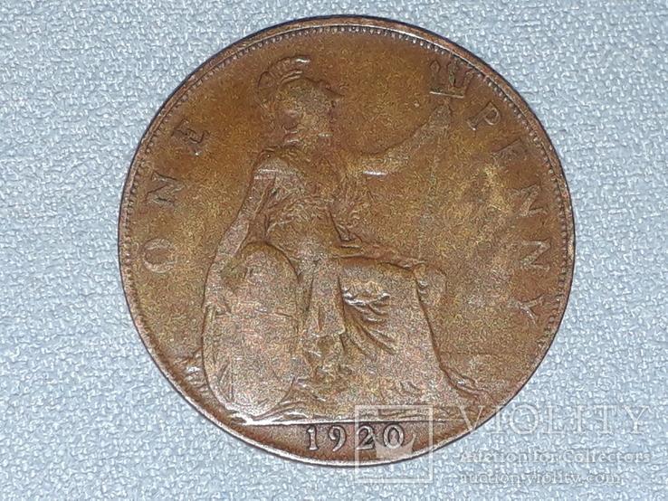 Великобритания 1 пенни 1920 года, фото №3