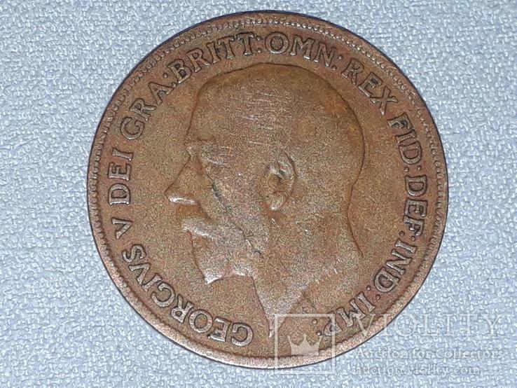 Великобритания 1 пенни 1920 года, фото №5