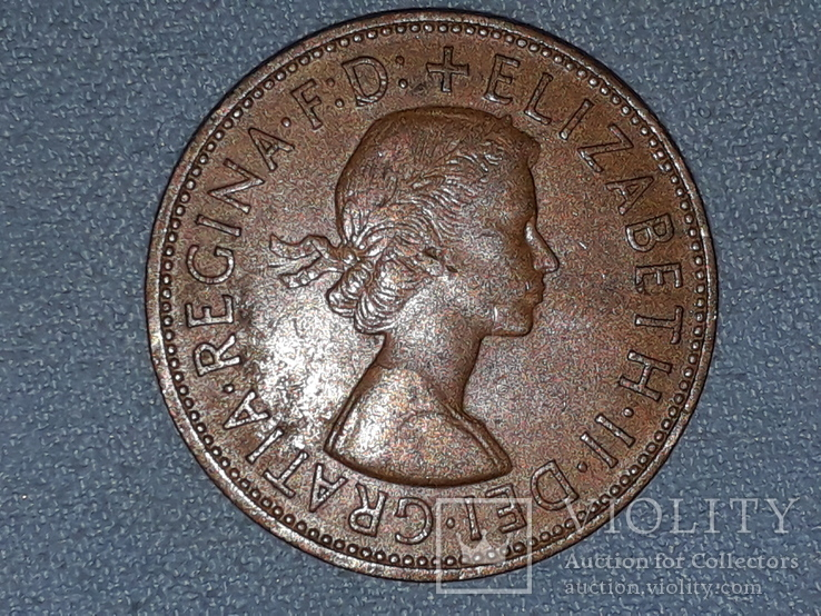 Великобритания 1 пенни 1966 года, фото №4