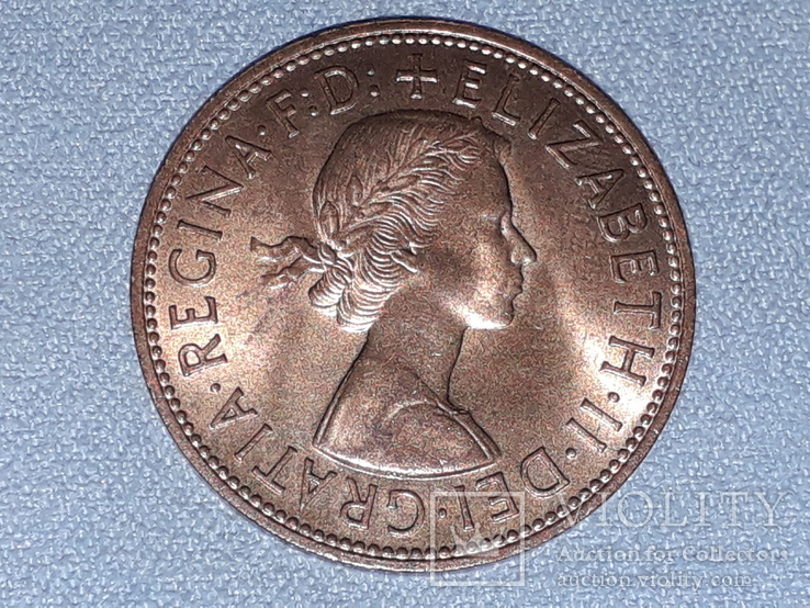 Великобритания 1 пенни 1967 года, фото №3