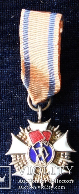 Польша. Орден Знамя Труда 2-го класса.. Миниатюра.(3), фото №2