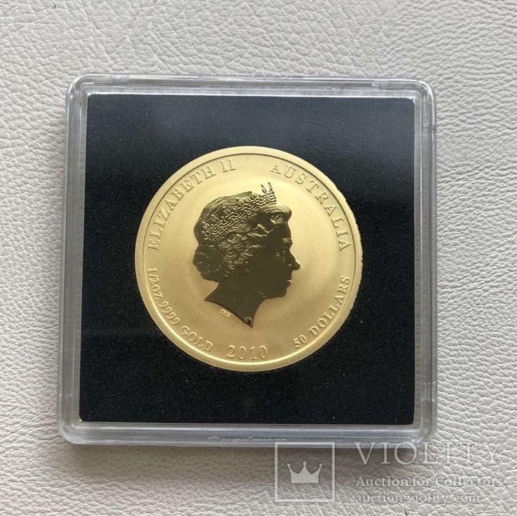 Год Тигра 2010 год Австралия 50 $ золото 1/2 унции 9999', фото №3
