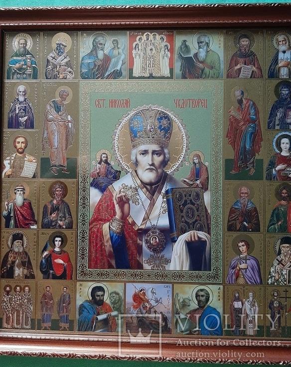 Икона СВ.Николай Чудотворец, фото №7