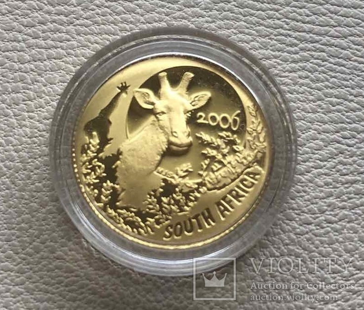 Жираф Южная Африка 2006 год 10 рандов 1/10 унции ЮАР, фото №2