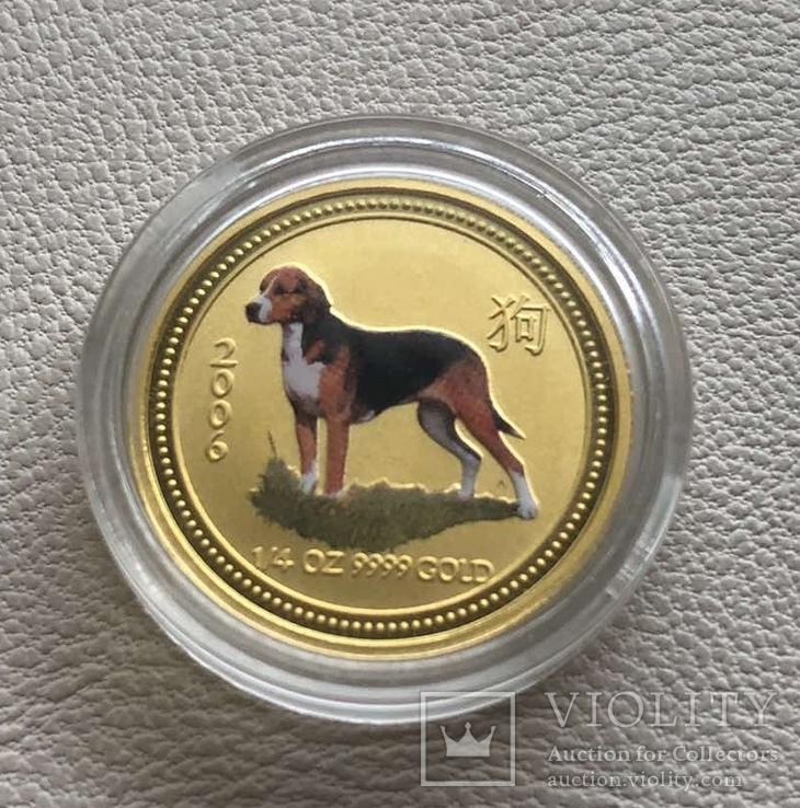 Год Собаки Австралия 2006 год 25$ 1/4 унции 9999' золото, фото №2