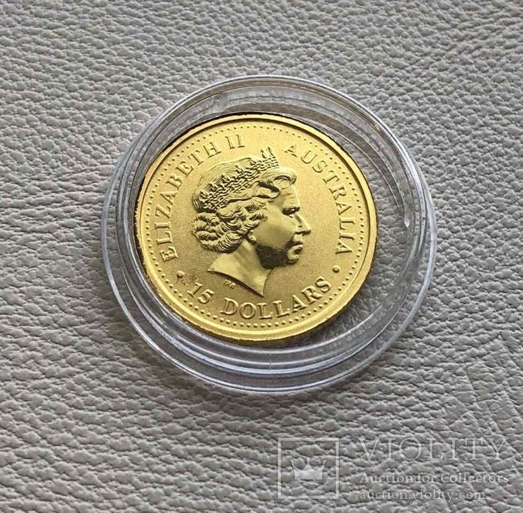Год Собаки Австралия 2006 год 15$ 1/10 унции 9999' золото, фото №3