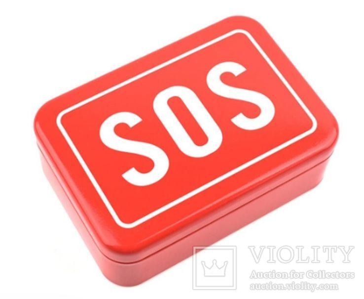 Коробка-Бокс для SOS набора для выживания. Металлическая, фото №2