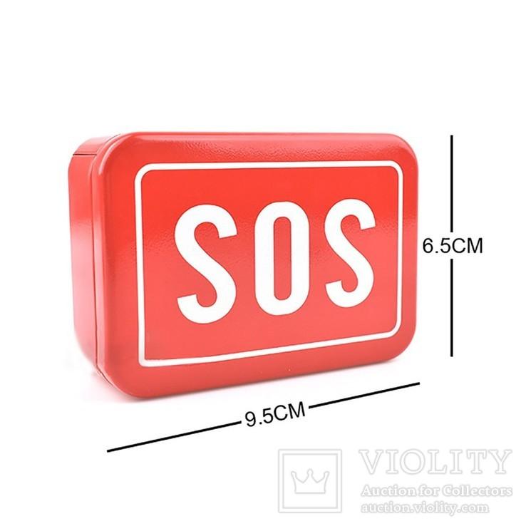 Коробка-Бокс для SOS набора для выживания. Металлическая, фото №6