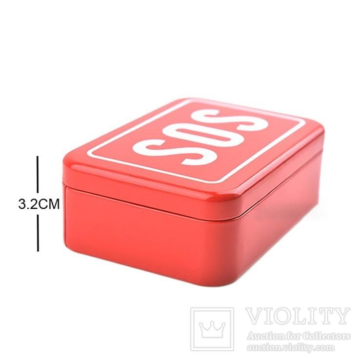 Коробка-Бокс для SOS набора для выживания. Металлическая, фото №7