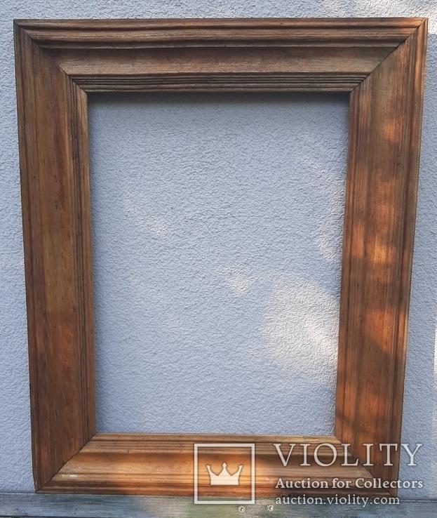 Рама для картины дубовая, 67 х 53,5 см(52х38,5), фото №2