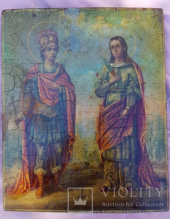 Икона Св. Адриан и Наталья. Покровители семьи, фото №2
