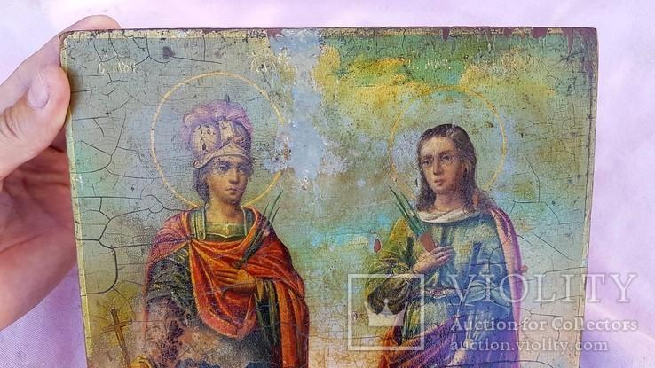 Икона Св. Адриан и Наталья. Покровители семьи, фото №3