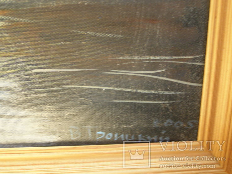 Картина. Холст, масло. Петербург, Мойка. Художник В. Троицкий. 2005г, фото №6