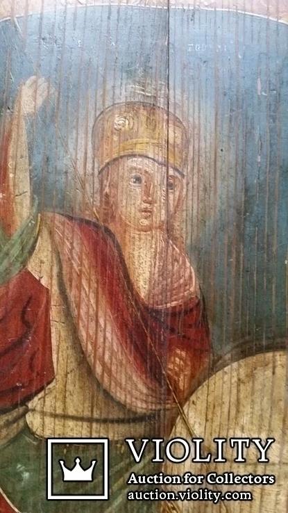 Ікона Юрій Змієборець, Чернігівщина, 52,5х42,5 см, фото №3