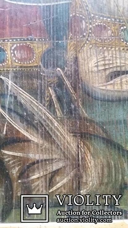 Ікона Юрій Змієборець, Чернігівщина, 52,5х42,5 см, фото №8