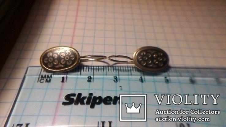 Сережки срібні СССР 3.47г, фото №8