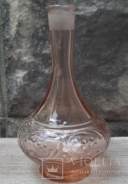Флакон для духов ,розовое стекло, фото №3