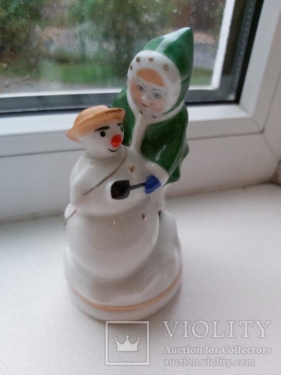 Девочка со снеговиком Киев 50 годы