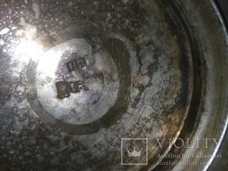 Сахарница серебро 84, фото №8