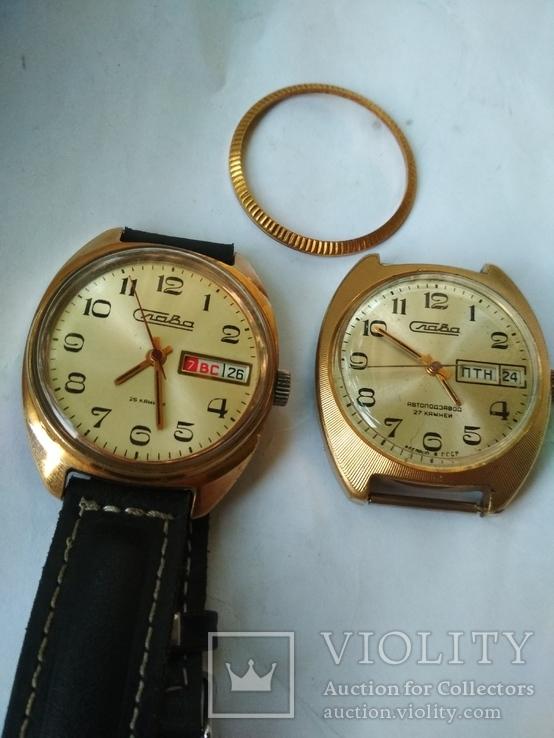 Часы Слава механика Au 5 и Au 10.